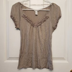 H&M Grey Top with Ruffles